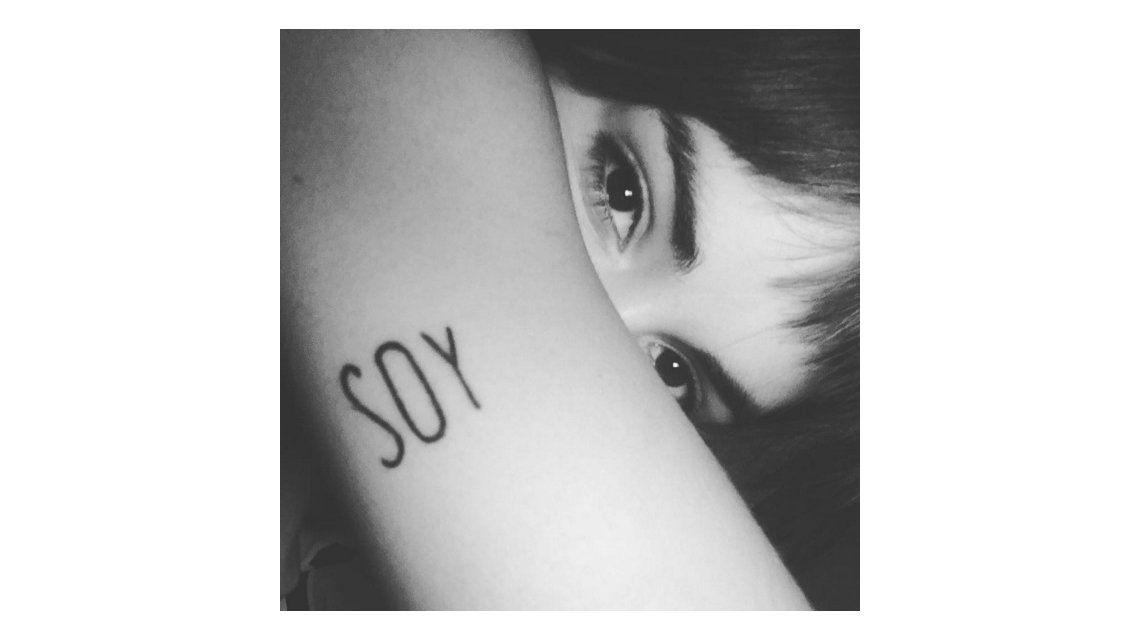 Lali Espósito mostró el tatuaje que se hizo en el brazo: Soy