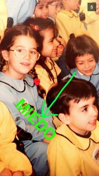 La China Suárez se ríe de su foto de la infancia:¡Miedo!