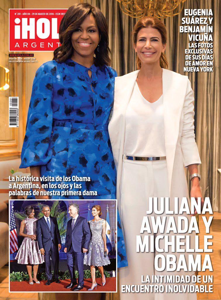 Tapa de revista: más detalles del histórico encuentro entre Juliana Awada y Michelle Obama