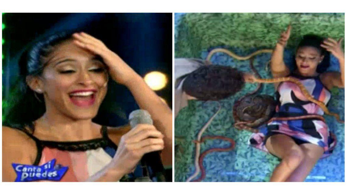 La inesperada reacción de Celeste Muriega en el desafío de las serpientes: No las quiero lastimar