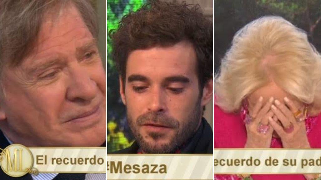 Nicolás Cabré se quebró en la mesa de Mirtha Legrand: el recuerdo de su padre y el amor por su hija