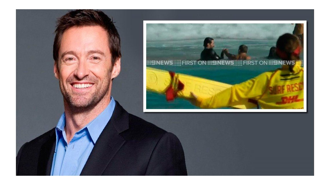 Hugh Jackman salvó a su hijo y a otros jóvenes de ahogarse en el mar