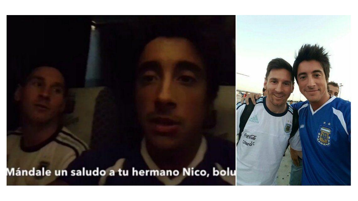 Video: el desopilante viaje del hermano de Nico Vázquez con Leo Messi a Chile