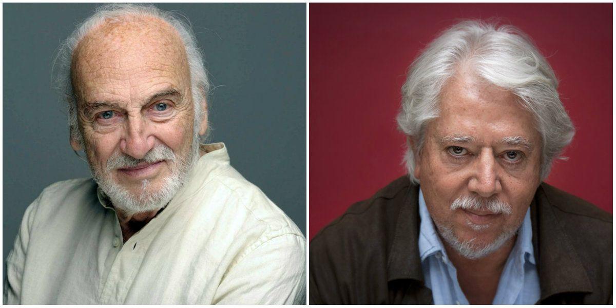 Emotivo cruce entre Luis Puenzo y Héctor Alterio: No hay que perder la memoria