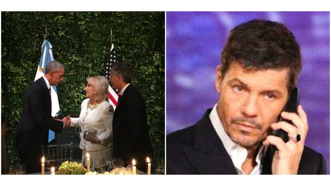 Cena en homenaje a Barack Obama: la foto del saludo a Mirtha Legrand y los motivos de la ausencia de Marcelo Tinelli