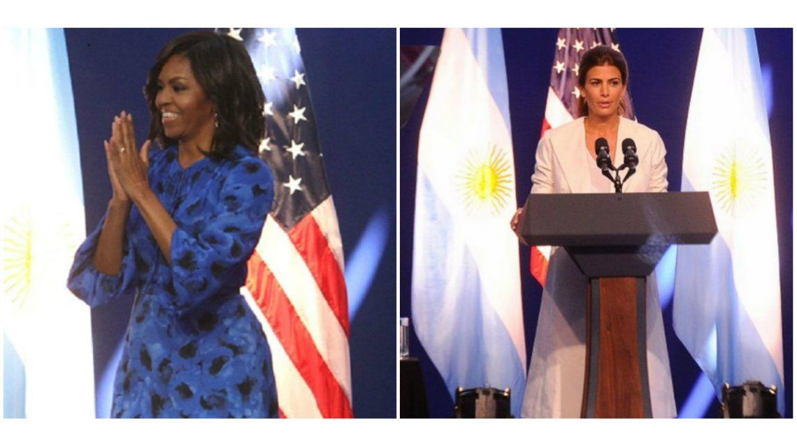 Los looks que eligieron Michelle Obama y Juliana Awada