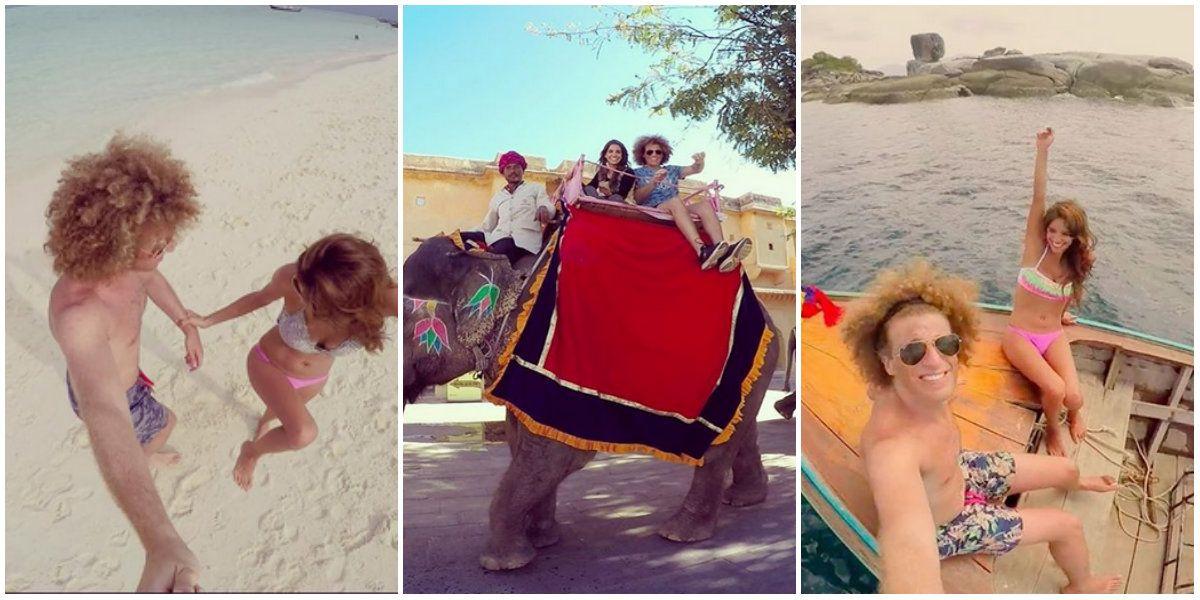 Las aventureras vacaciones de Rulo y su novia Gabriela Sari en el Sudeste asiático