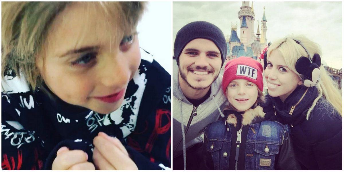 Mauro Icardi grabó a uno de los hijos de Maxi López diciéndole un polémico mensaje por el Día del padre