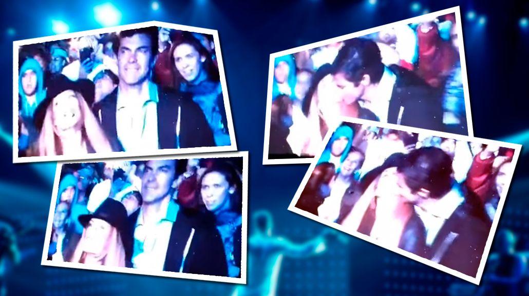 El apasionado beso de Isabel Macedo y Juan Manuel Urtubey en el recital de Ricky Martin en Salta