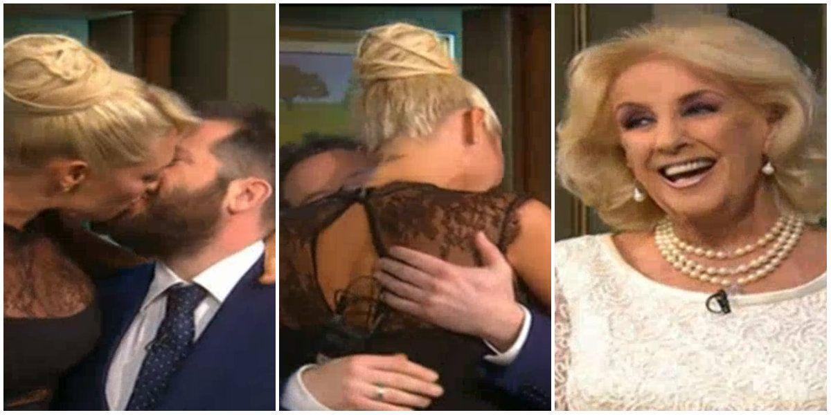 Vicky Xipolitakis y José Ottavis, muy cariñosos en cámara ¡y retados por Mirtha: ¡Soltalo, dejalo en paz!