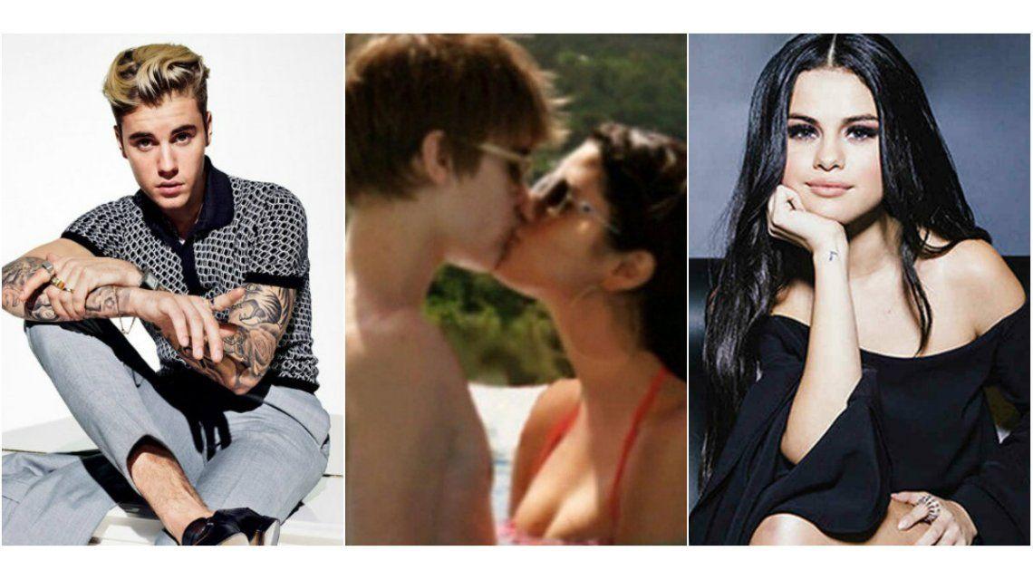 Justin Bieber publicó una foto dándole un beso a Selena Gomez con una romántica indirecta