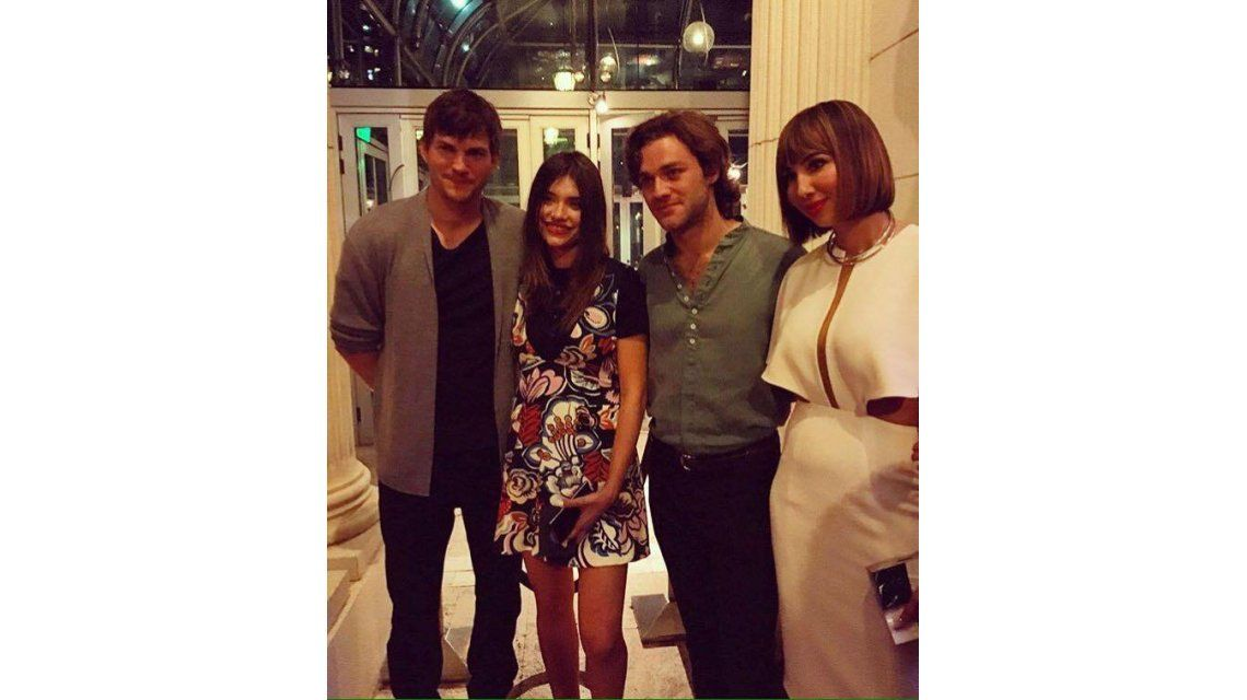 Ashton Kutcher, muy cerca de Eva De Dominici en una fiesta: mirá las fotos