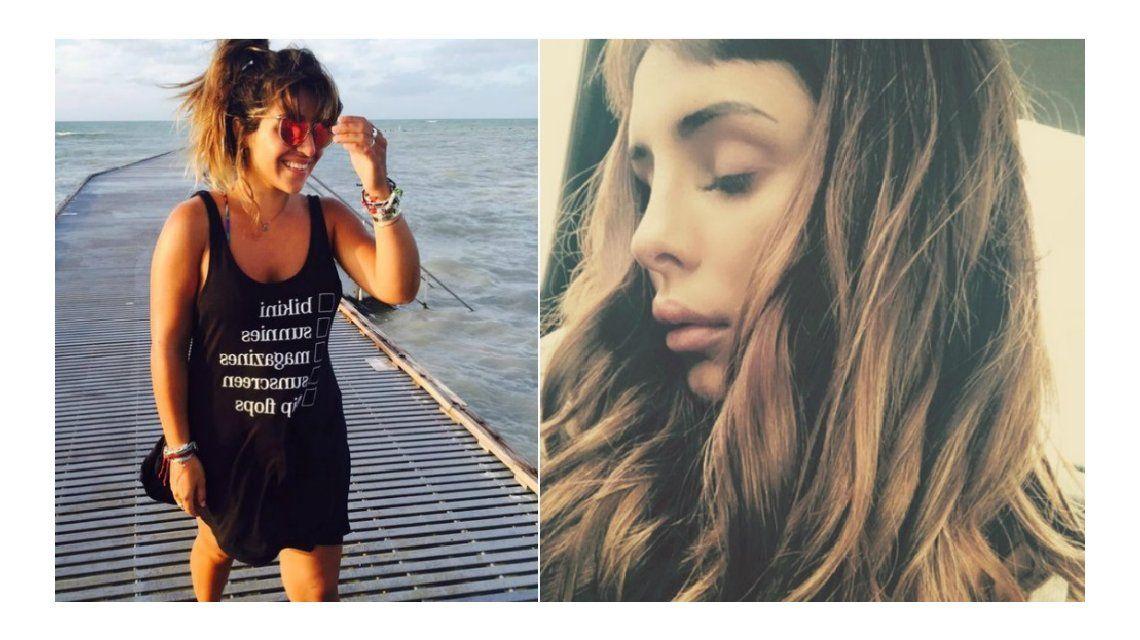 Gianinna Maradona vs Candelaria Tinelli: Esa foto no es real; ella no tenía esa boca y esa nariz