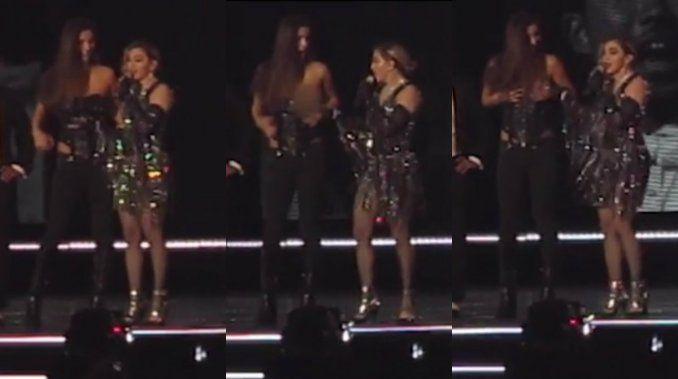 Madonna desnudó a una fanática en el escenario durante un show en Australia