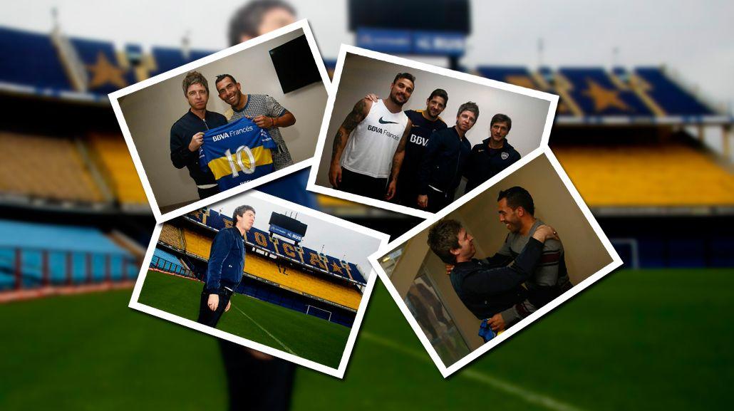 Noel Gallagher visitó La Bombonera y se sacó fotos con Tevez y Osvaldo
