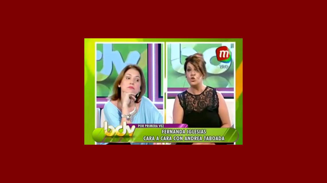 Fuerte cruce: Fernanda Iglesias y Andrea Taboada se reencontraron en vivo y se dijeron de todo