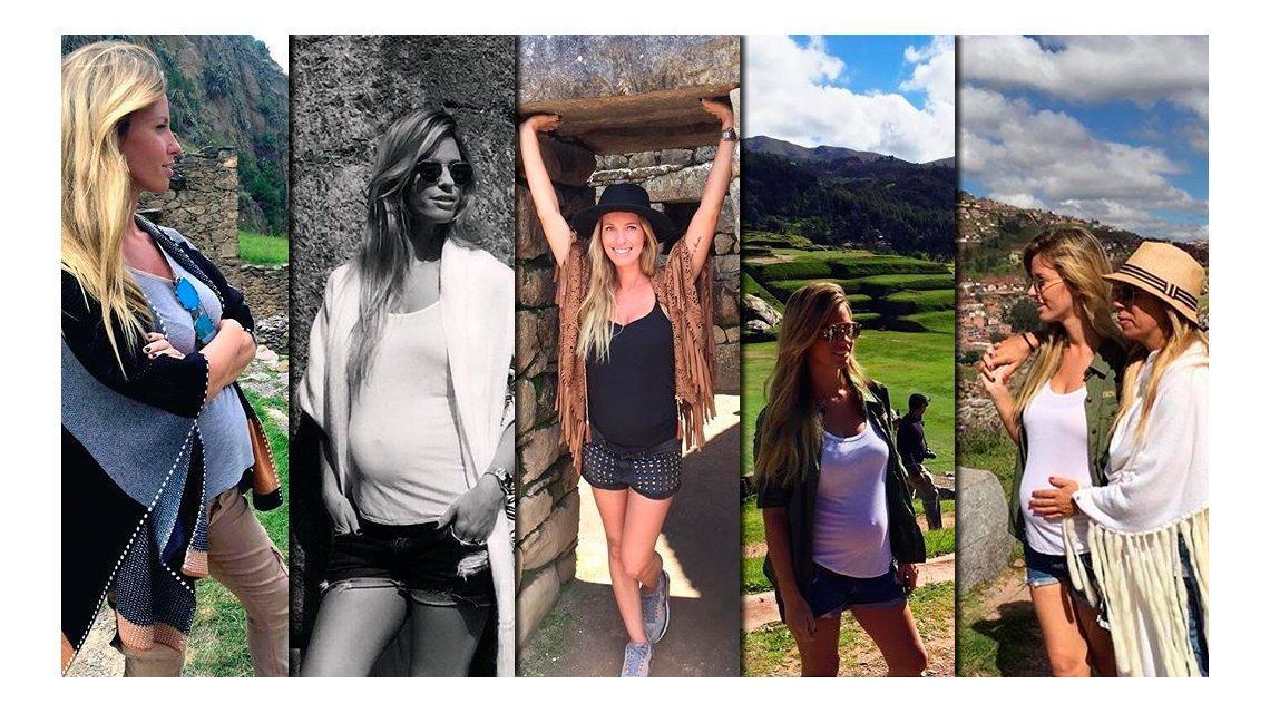 Embarazada, Rocío Guirao Díaz se animó y subió al Machu Pichu: mirá las fotos de sus vacaciones