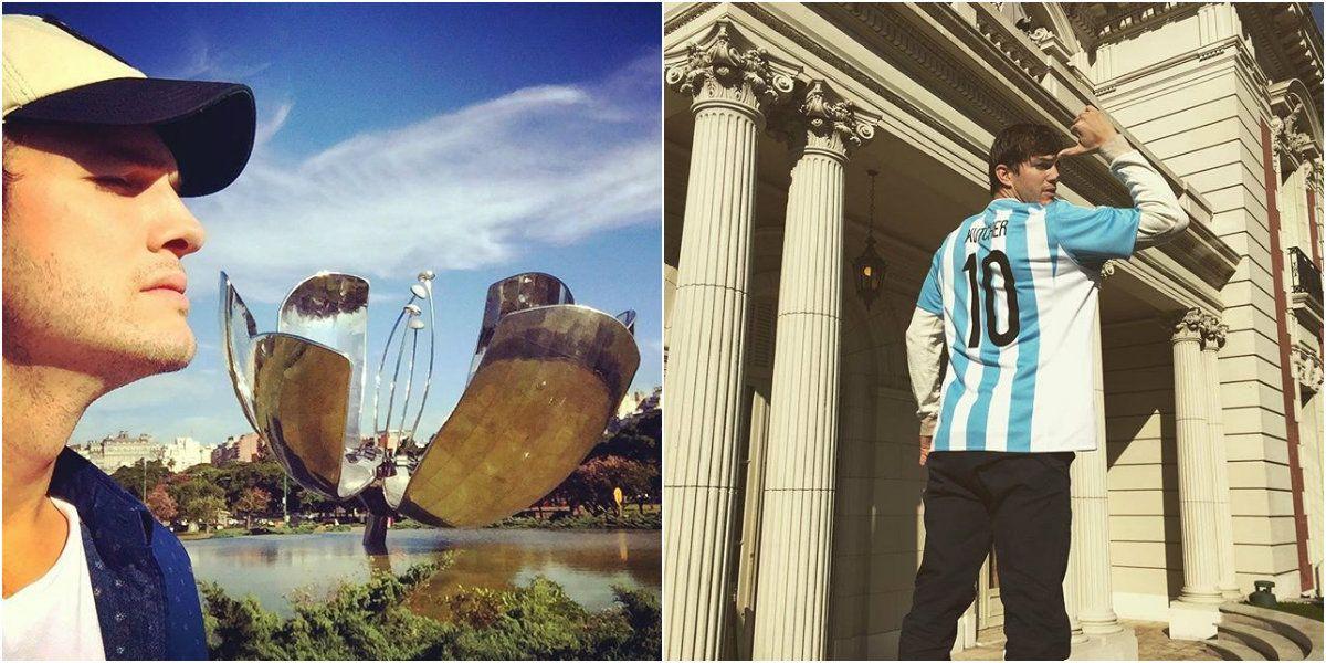 Ashton Kutcher hace de las suyas: su paseo por Palermo y ¡ya tiene la 10 de Argentina!