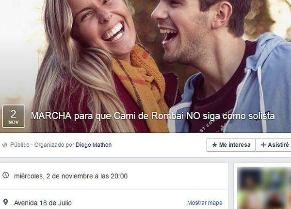 Se fue la cantante de Rombai: la marcha mala onda convocada en Facebook