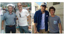 Ashton Kutcher y Michael Kelly, en el país: las fotos paseando por Buenos Aires