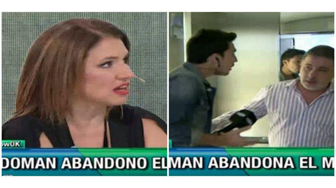 Fabián Doman abandonó un móvil en vivo por Fernanda Iglesias y mirá cómo respondió ella