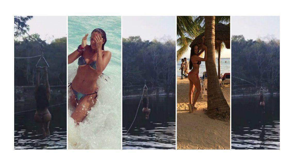 Barbie Vélez se tiró de tirolesa en Cancún y revolucionó las redes sociales: ¡Mirá el video!