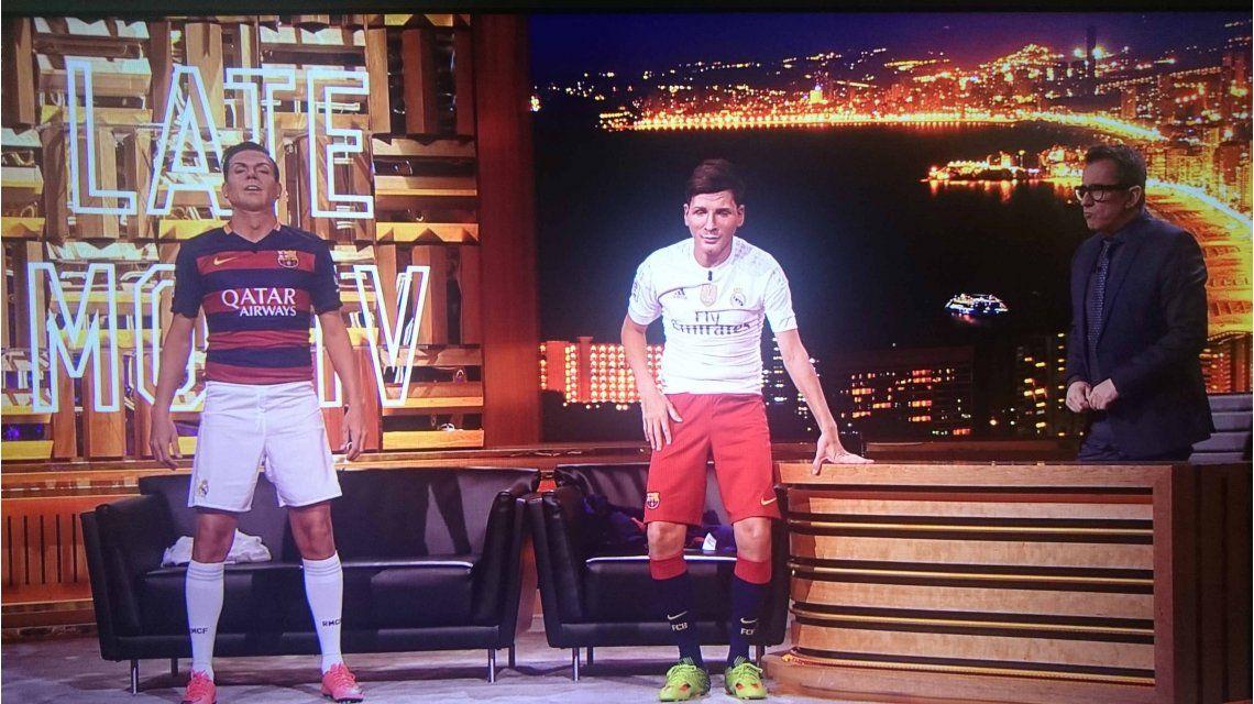 Martín Bossi imitó a Lionel Messi y Cristiano Ronaldo, y es furor en las redes