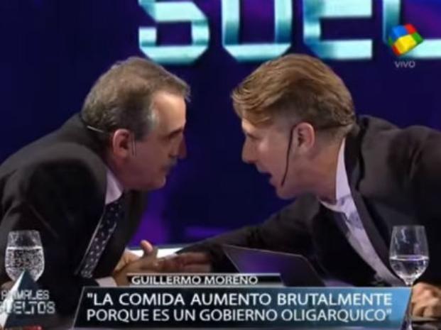 Detalles del explosivo encuentro entre Guillermo Moreno, Alejandro Fantino y su equipo en vivo