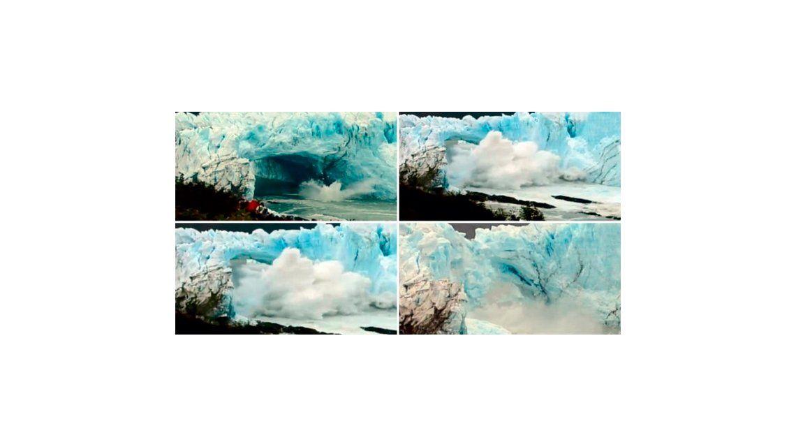 Se cayó el glaciar Perito Moreno: cómo lo cubrieron los canales de televisión