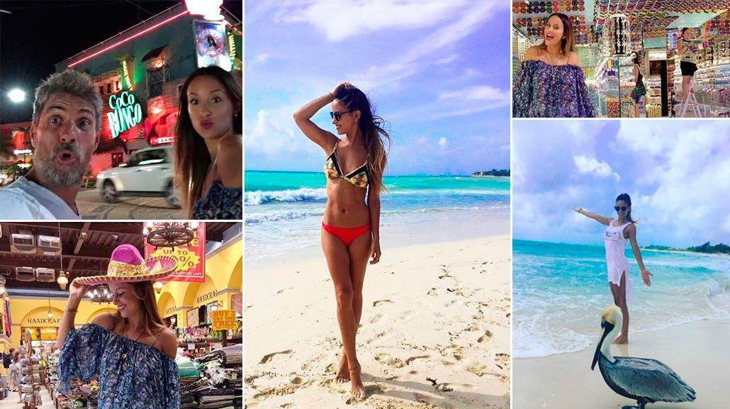 Lourdes Sánchez, sexy y divertida en Playa del Carmen junto al Chato Prada