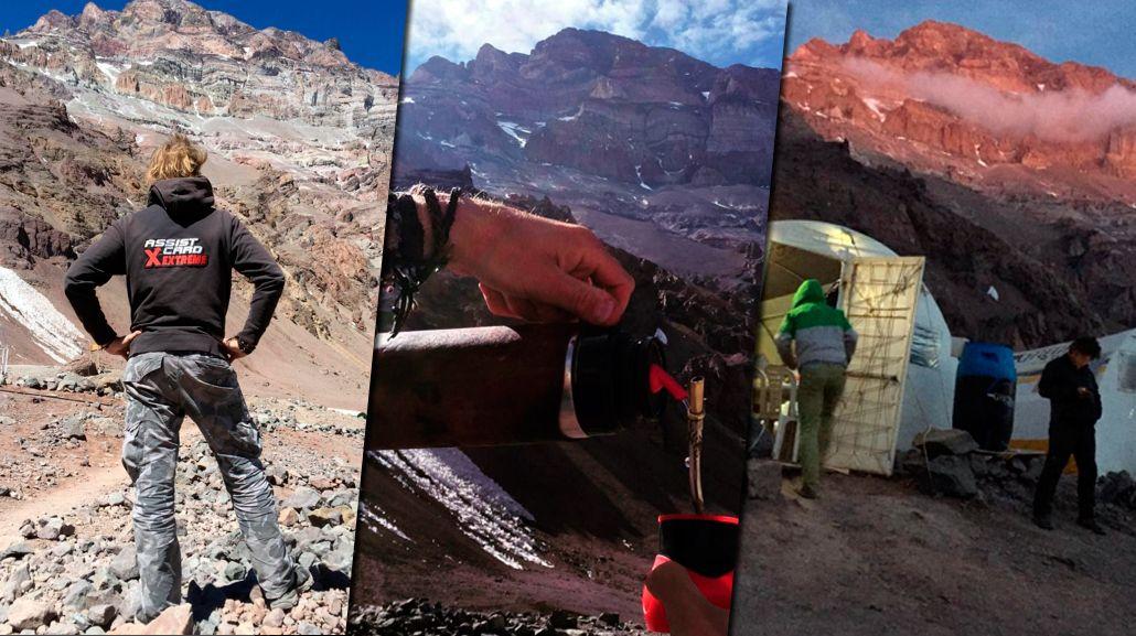 Facundo Arana ya comenzó su travesía en el Aconcagua: las fotos de la escala