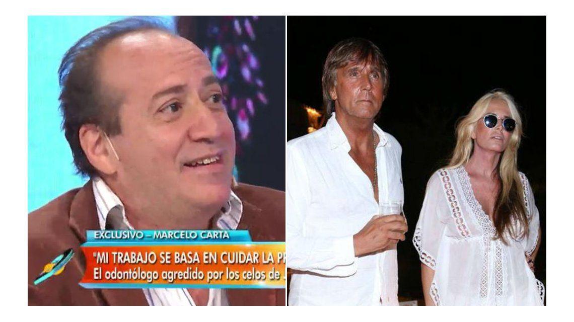 Un odontólogo confirmó en televisión que fue agredido por el yerno de Susana Giménez