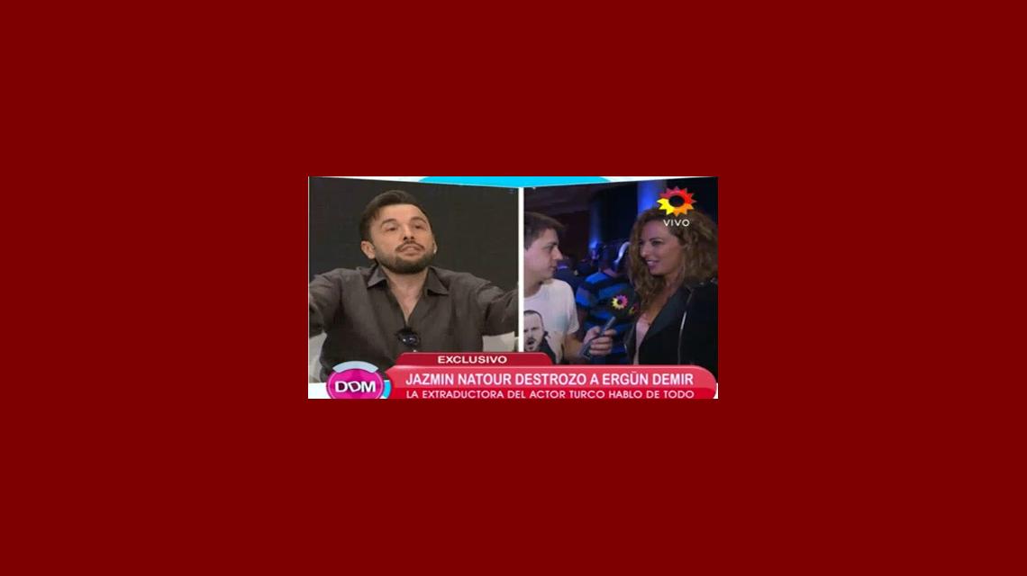 Jazmín Natour destrozó a Ergun Demir y el actor respondió: Fue mi profesora como hay millones en el mundo