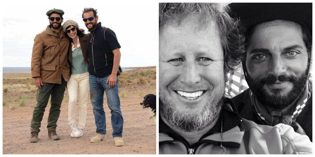 Joaquín Furriel, en la Patagonia: filmó una película basada en la relación del ser humano con las orcas