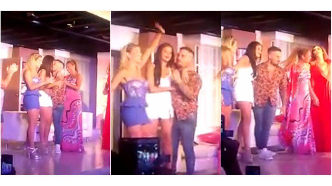 El beso y abrazo de Federico Bal a Barbie Vélez cuando la despidieron de Enredados