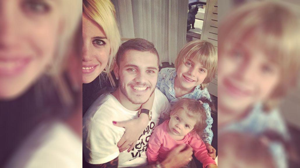 El rol de padre de Mauro Icardi con los hijos de Maxi López: mirá el video