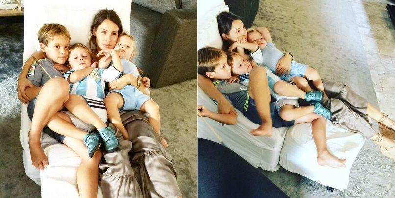El fin de semana, a cara lavada, de Pampita con sus tres hijos: ¿Hay algo mejor que esto?