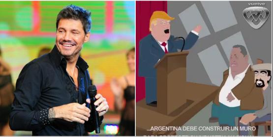 ¡Lindo cóctel! Marcelo Tinelli y una divertida parodia animada con Donald Trump, Luis D´Elía y Fernando Esteche