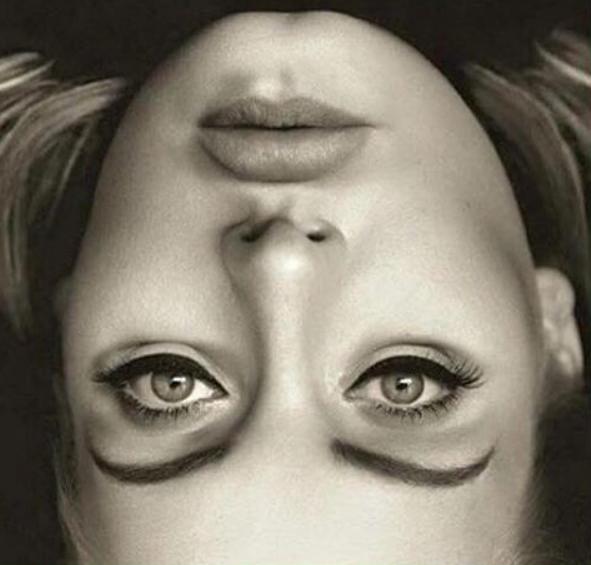 La foto de Adele que genera una extraña ilusión óptica