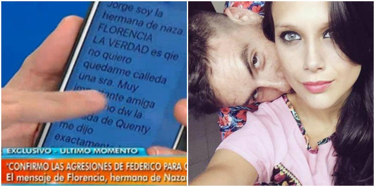 La hermana de Nazarena confirmó agresiones de Fede Bal con Barbie Vélez: Esto es muy grave