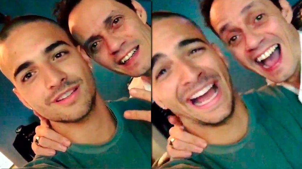 ¿Foto o video? Mirá la broma de Maluma a Marc Anthony