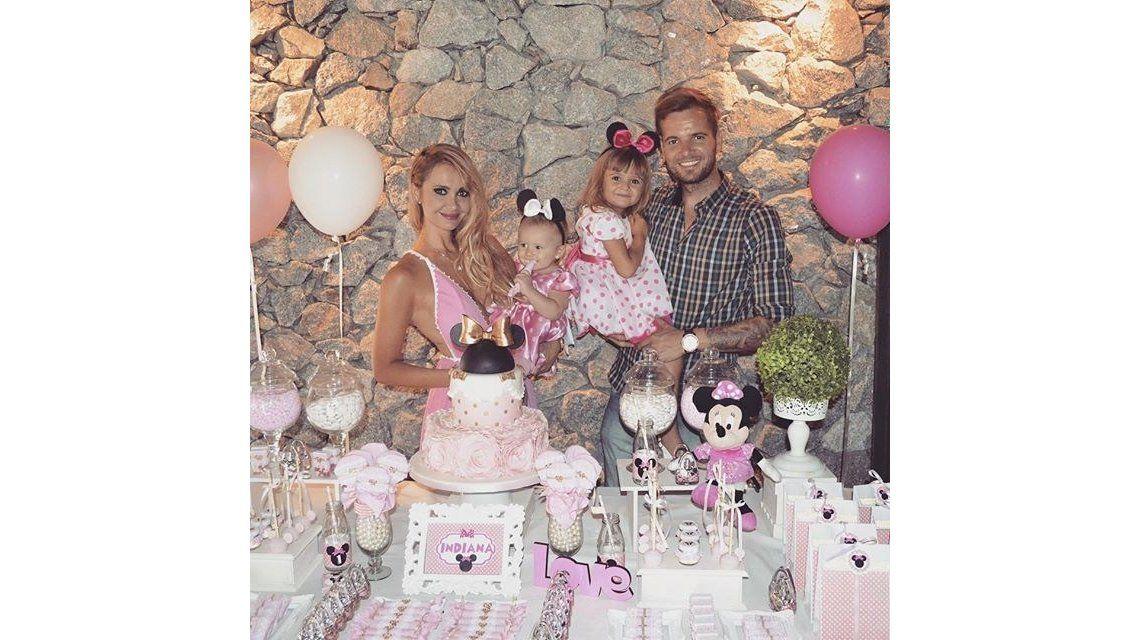 Melina Pitra festejó el primer cumpleaños de Indiana: Fabián quiere tener otro bebé