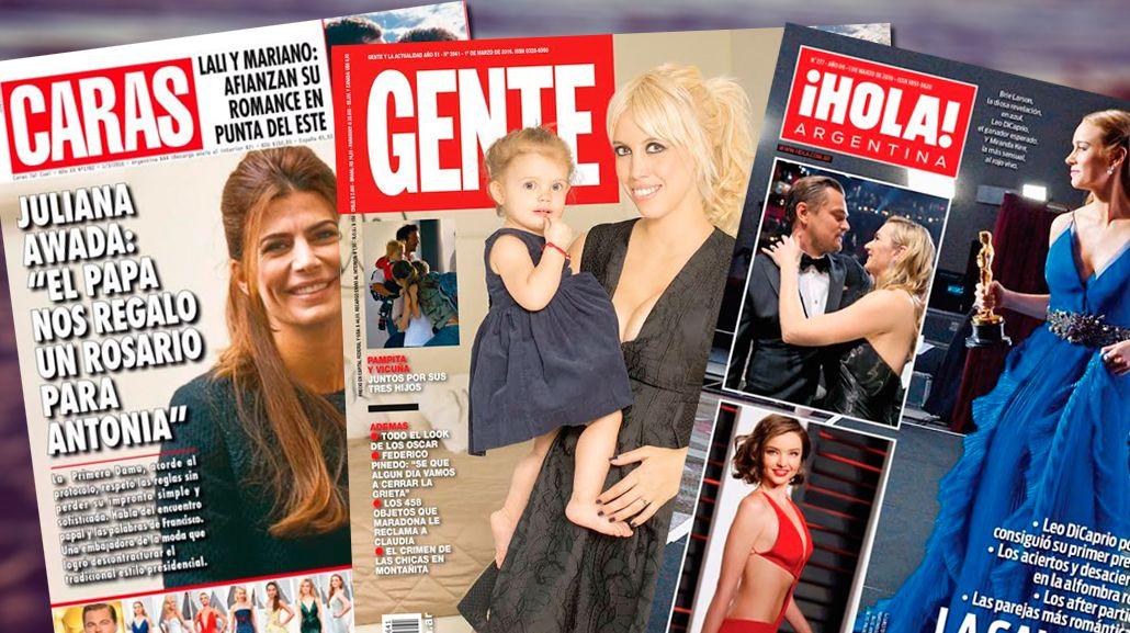 Tapas de revistas: Wanda Nara desde Milán; y Vicuña y Pampita, juntos