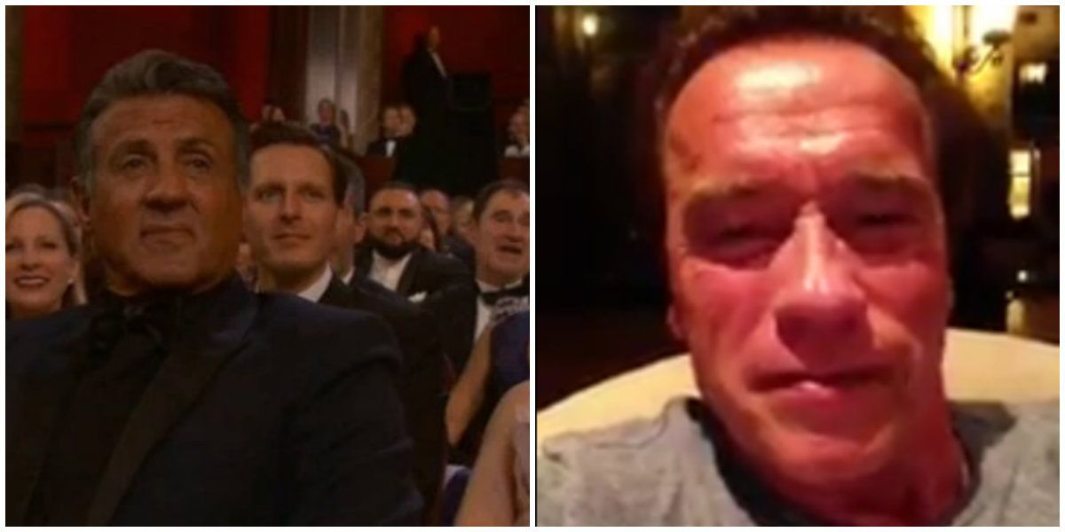 Silvester Stallone recibió un mensaje de Arnold Schwarzenegger tras perder como actor de reparto