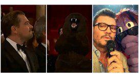 La tibia reacción de DiCaprio por la broma del oso ¡y el chicaneo de Marcelo Tinelli!