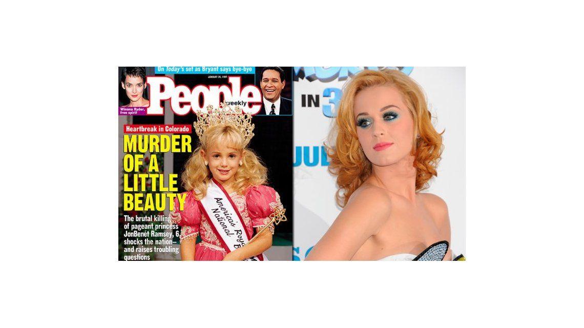 Aseguran que Katy Perry es JonBenént, una reina de belleza infantil asesinada en 1996