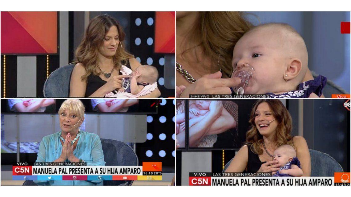 Manuela Pal presentó a su hija en C5N y contó divertidas anécdotas del parto