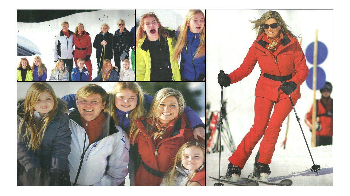 Las vacaciones de la Reina Máxima con su familia en la nieve