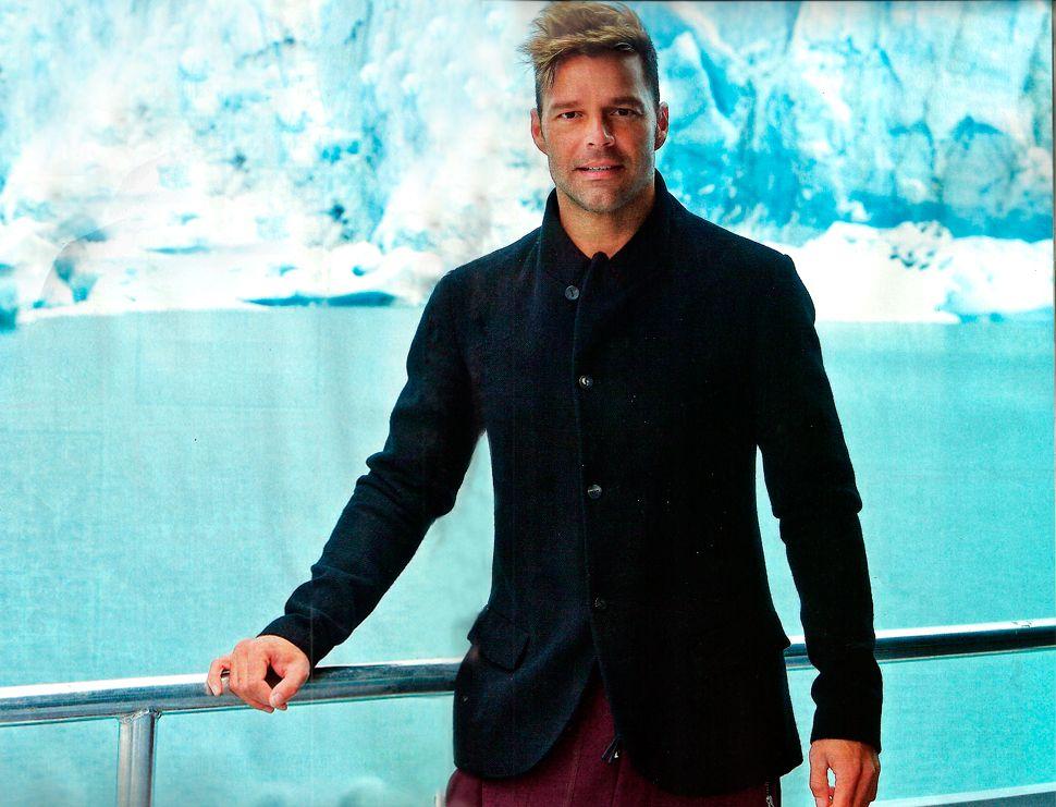 Las fotos de Ricky Martin en el Glaciar Perito Moreno: Es una obra de arte