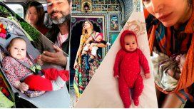 Así fue el primer viaje de la beba de Dolores Barreiro y Matías Camisani a la India